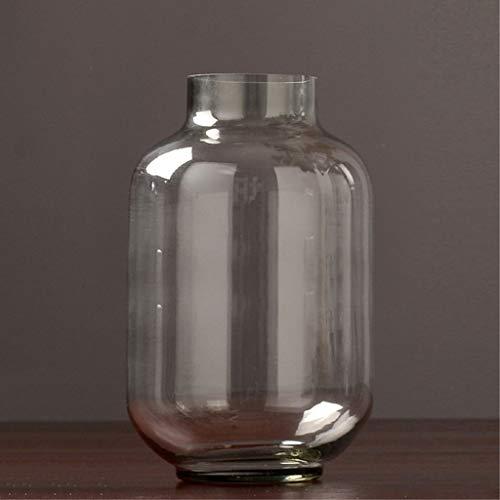 XZGang Florero de cristal transparente, mesa de comedor decoracion del hogar floreros jarrones mesa de comedor mesa de centro de floreros creativos jarrones 24-30CM Decoracion (Size : 18*30CM)
