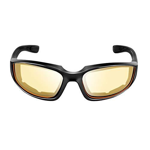 Greatangle Gafas Protectoras de Motocicleta Gafas a Prueba de Viento a Prueba de Polvo Gafas de Ciclismo Gafas Deportivas al Aire Libre Gafas Amarillas