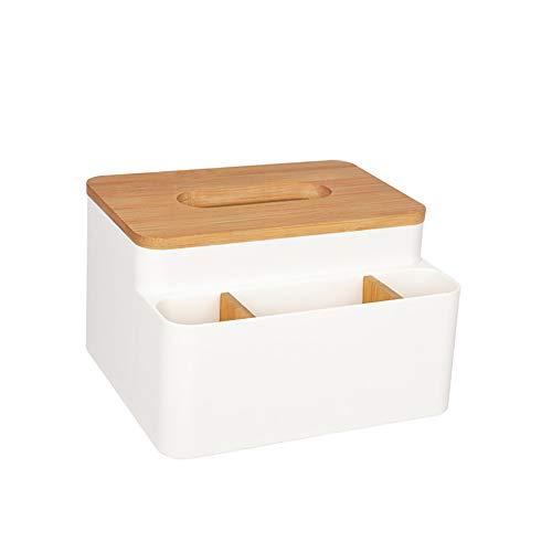 QPY Caja de pañuelos Rectangular Organizador de Escritorio Dispensador de pañuelos, para Oficina en casa Coche Caja de pañuelos Multifuncional Lápices, Control Remoto