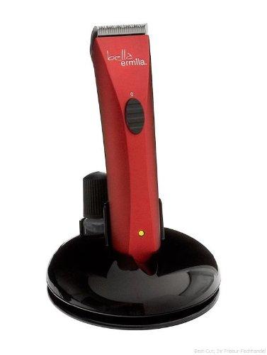 Ermila Profilinie Akku-Trimmer BELLA, rot, leicht und leise, ab 0.4 + 3 - 6mm, ca 100 Min. Power, Edelstahls-Konturenschneidsatz.