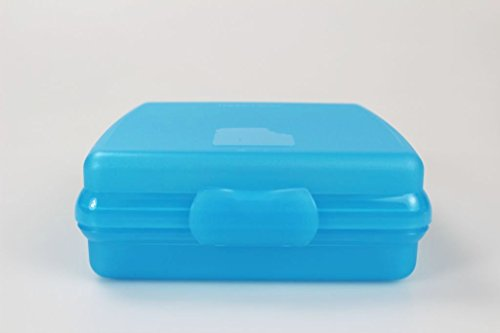 TUPPERWARE To Go Sandwich-Box blau Brotbox Schule Pausenbrotbehälter A126 Dose