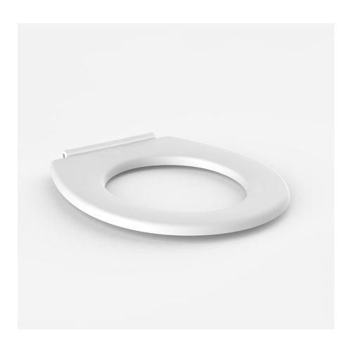 Sanit WC-Sitz mit Schanieren aus Chromnickelstahl ohne Deckel, 1 Stück, weiß, 56.022.01..0000