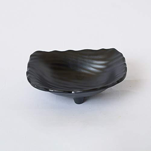 SUNXK 7 inch halfronde kunststof statief plaat zwart creatief KTV bar snack schotel dessert schotel warme plaat melamine melamine