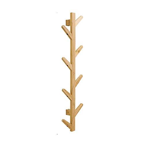 O&YQ Lagerregal 8 Haken Wandgarderobe Holz AST Design Hängeorganisator Naturholz