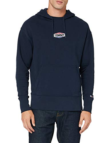 Tommy Jeans Herren TJM Patch Logo Hoodie Pullover, Blau (Twilight Navy), M