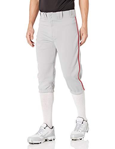 Easton Herren A167105GYRDL Baseball-Bekleidungshose, grau/rot, Large