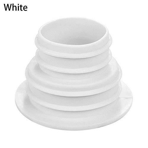 Huien Washer Controle Siliconen Afdichtstop Riool Afvoerpijpleiding Deodorant Zwembad Afvoerputje Badkameraccessoires Afvoerafdichtring, Wit