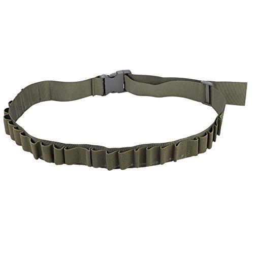 Dilwe Shell Gürtel, Nylon Schrotflintenpatronen Etui 27 Loch Geschossgürteltasche für Munitionsgürtel(Grün)