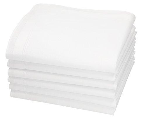 Betz 6 Stück Herren Stoff Taschentücher Set Leo 5 Dessin 4 100% Baumwolle Größe 40 x 40 cm