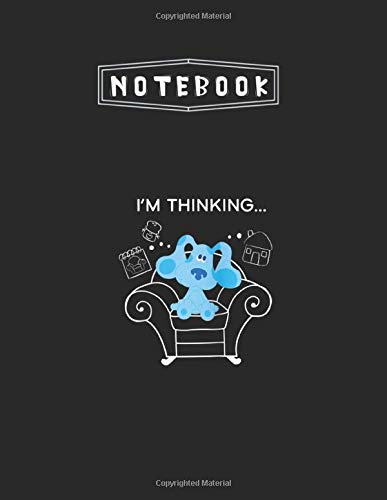 Notebook: Blues Clues Classic Thinking Chair Raglan Baseball Lined Pages Notebook 8.5''x11'' White Paper Blank Journal with Black Cover 100 pages for Kids or Friend