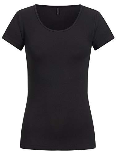 ONLY Damen T-Shirt Onllive Love Life Basic Damenshirt 15205059 Black M