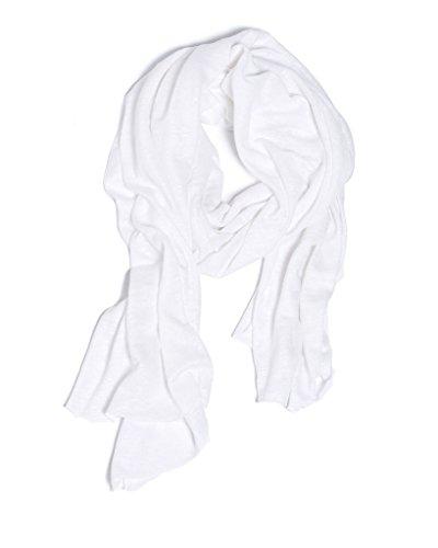 ArteCita ECO Fashion Echarpe 100% Lin - 180x70 cm - Fold Blanc