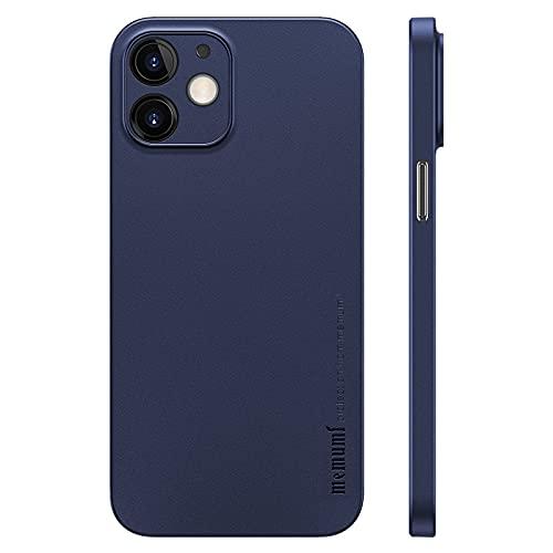 memumi Case per iPhone 12 (Two Camera), Cover per iPhone 12 2020, Materiale PP Slim Custodia 0.3 mm Ultra Sottile Cover, Anti-Graffio e Resistente alle Impronte Digitali Caso, Trans-Blue(6.1'')