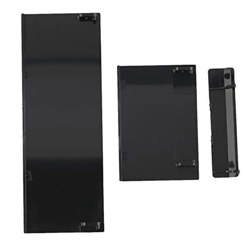 Ashley GAO Tapa de ranura para tarjeta de memoria de repuesto para tarjeta de memoria, 3 piezas, cubierta de puerta para consola Wii, color negro