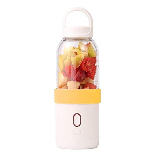 B/H Licuadora Portátil,Vaso de Jugo inalámbrico USB, licuadora automática de Gran Capacidad-Naranja,Verdura Batido Blender