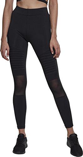 Urban Classics Damen Ladies Tech Mesh Biker Leggings, Schwarz (Black 00007), 36 (Herstellergröße: S)