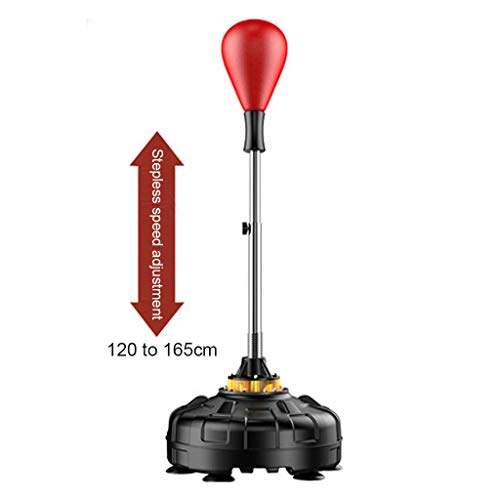 YAN QING SHOP Bolsa de perforación de Boxeo con Soporte Bolsa de Velocidad de Reflejo Altura Independiente Ajustable Interior y Entrenamiento al Aire Libre for Adultos y Adolescentes (Color : Rojo)