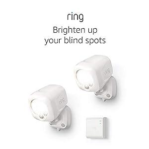 Ring Smart Lighting – Spotlight, Battery-Powered, Outdoor Motion-Sensor Security Light, White (Starter Kit: 2-pack)