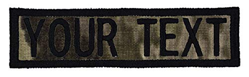 Custom Morale Name Tapes with Border, Personalized Text Patch