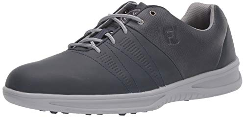 FootJoy Men's Contour Casual Golf Shoes, Navy, 8 W US