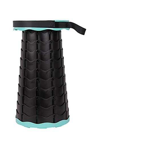 Xsqq Taburete Plegable portátil retráctil para Acampar al Aire Libre Conveniente Pesca Silla Plegable Plegable Silla de Camping portátil (Color : Lake Blue)