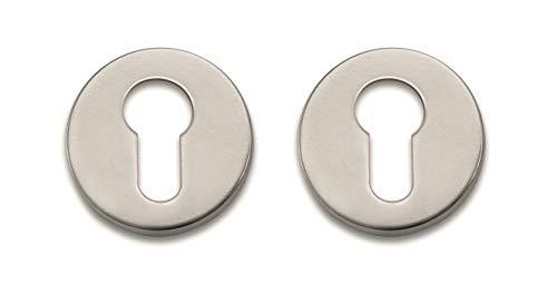 Bricard 668021 Paire de rosaces INOX Tempo Design pour Porte d'entrée, Cylindre européen