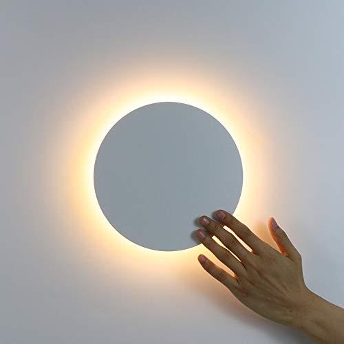 CAIJINJIN Lámpara de pared Luz de pared LED con interruptor táctil Dormitorio Lámpara de pared de la cama de la cama de interior Lámpara de iluminación Lámpara de iluminación Lámpara de hierro y mater