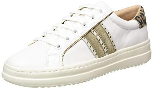Geox D PONTOISE D, Sneakers Basses Femme, Blanc (White C1000), 41 EU