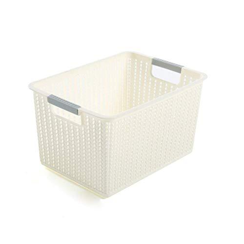 Aufbewahrungsbox für Den Hausgebrauch, Küche, Schlafzimmer, Waschbecken, Obst, Gemüse, Snack, Aufbewahrungsbox, Durchbrochenes Muster, DTTX001, Weiß, 31 * 22,5 * 17 cm