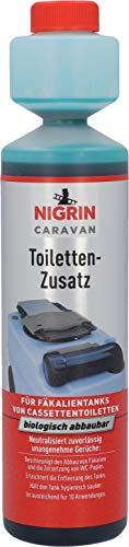 Nigrin 20606 Sanitärflüssigkeit 250 ml Caravan Sanitärzusatz für Campingtoilette und Toiletten-Zusatz Chemie WC