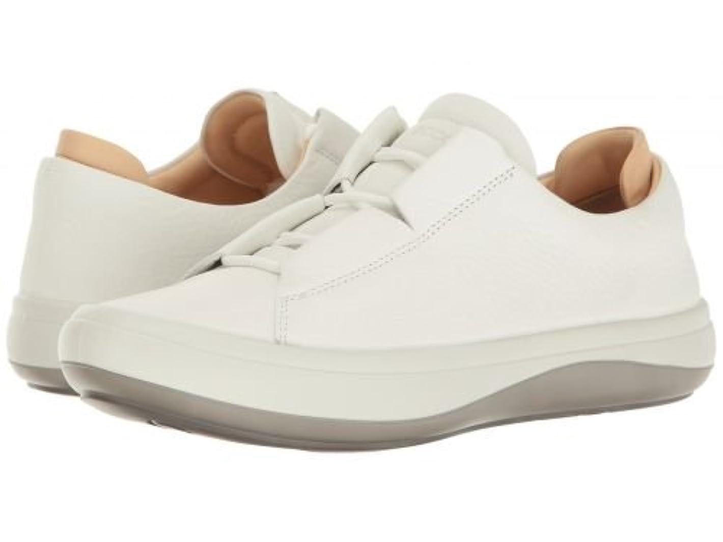 卒業練習神聖ECCO(エコー) レディース 女性用 シューズ 靴 スニーカー 運動靴 Kinhin - White/Vegetable Tan [並行輸入品]