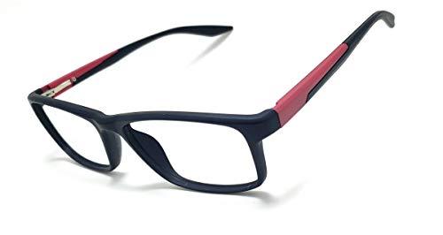 Óculos Armação Masculino Com Lentes Sem Grau Jc-1024 Cor: Preto-Vermelho