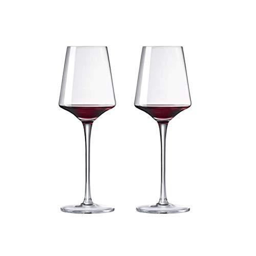 ZHIHUI Conjunto de Cristal de Vino Transparente de 4 Gafas de Vino de Cristal Premium Copa de Vino Tinto Excelente Regalo para Cualquier Ocasión Copas de Vino (Color : ClearA)