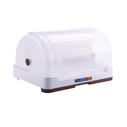 YANGYUAN Caja de Almacenamiento de vajillas, Bastidor de Drenaje de Platos de Cocina, Caja de Almacenamiento de vajillas para el hogar Plato de Plato de plástico con Tablero de Drenaje y Base