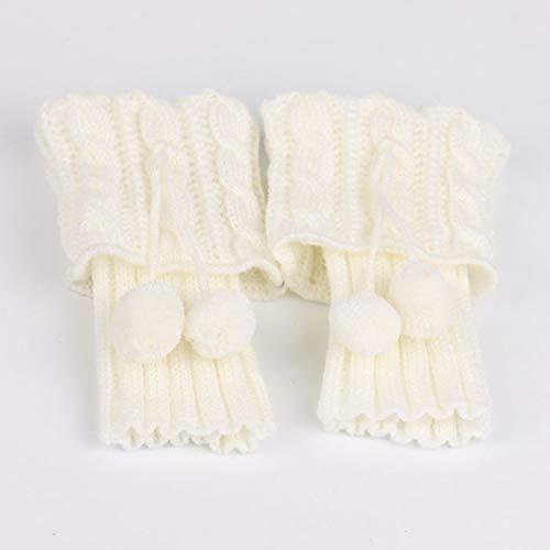 JKCKHA Calentadores de la pierna del calcetín Mujeres Calentador de invierno de arranque Calcetines Botas cubierta del calcetín de arranque puños calentadores de la pierna ganchillo de las mujeres de