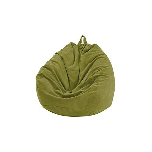 DASNTERED - Fodera per poltrona a sacco per divano e soggiorno, senza riempimento, in morbido velluto a coste, colore: verde, dimensioni: 70 x 80 cm