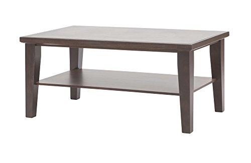 Table de salon café en bois massif. Classique et moderne