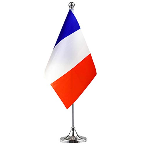 GentleGirl France Flag French Flag Table Flag,Desk Flag,Office Flag,International World Country Flags Banners,Festival Events Celebration,Office Decoration,Desk,Home Decoration