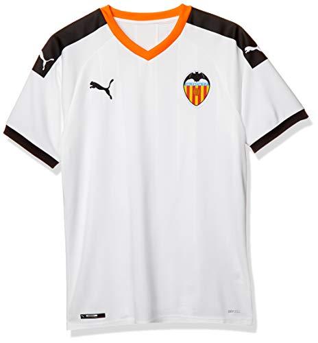 Puma Valencia CF Temporada 2020/21-Home Shirt Replica Camiseta Primera Equipación, Unisex, White Black-Vibrant Orange, S