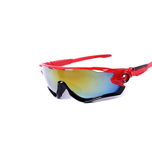 KALMAR Sunglasses, Cycling Glasses, Men and Women Bicycle Mountain Sports Sunglasses, Road Bike Outdoor Goggles, Best Gift (Color : Red)