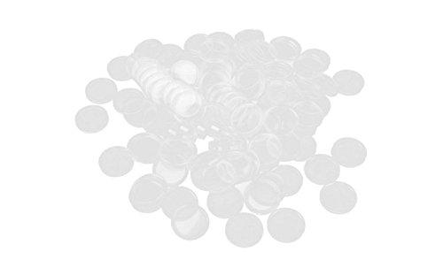 AK.SSI 100 Unidades de Cápsulas de Monedas Estuche de Plástico Redondo Estuche Contenedor de Monedas para Suministros de Recolección de Monedas