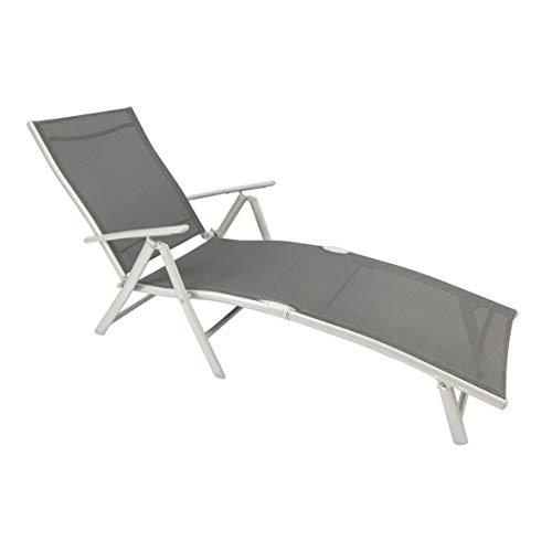 MaxxGarden Sun Lounger Folding Camping Lounger Beach Lounger 150 x 64 x 85 cm