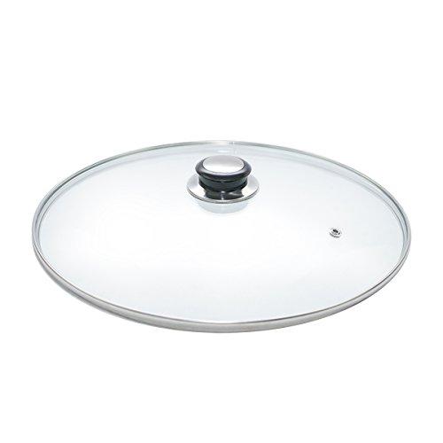 Tapa de cristal para cacerola, WOK y sartén, tamaños de 20,22, 24,26,28,30,32,34y 36cm, acero inoxidable, metalizado, 20
