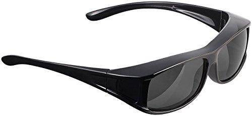 PEARL Sonnenüberbrille: Überzieh-Sonnenbrille Day Vision Pro für Brillenträger, polarisiert (Überzieh Sonnenbrille Damen)