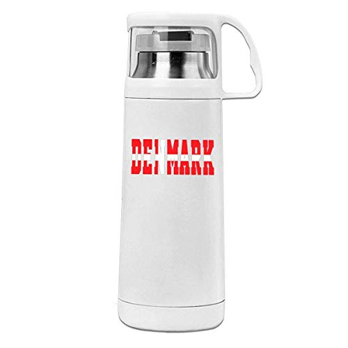 Bestqe Vakuumisolierte Trinkflasche,Wasserflasche, Denmark Letter Flag Insulated Stainless Steel Thermos Cup Portable...