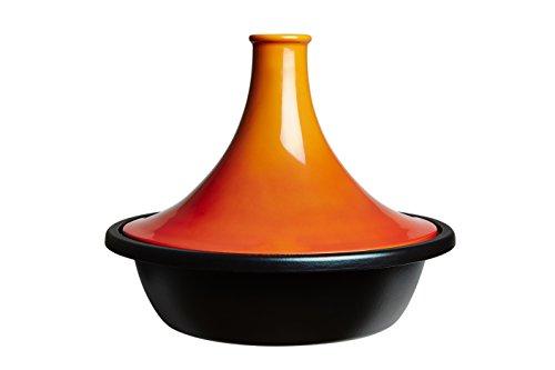 LE CREUSET 25138350900422 Tajine 35cm volcanique, Fonte Emaillée, Orange, 35 cm