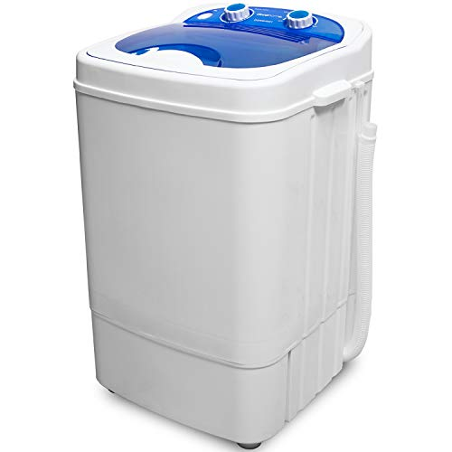 Deco Home Portable Washing Machine for Apartments, Dorms, and Tiny Homes with 8.8 lb Capacity, 250W Power, Wash and Low Agitation Spin Cycle, Includes Drainage Hose, ETL Certified
