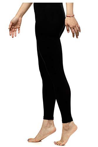 VIM & VIGR Mallas de compresión graduadas de nailon 15-20 mmHg para mujer, 2, Negro Footless