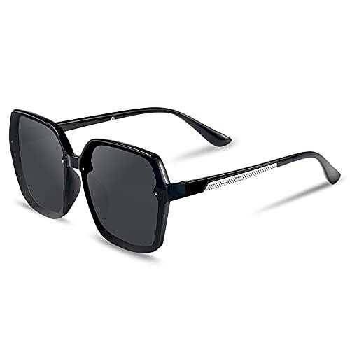 SONGQ Moda Classic Trend Big Frame Gafas de sol Azul
