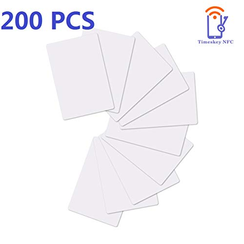 200 Pieces NTAG215 NFC Cards NFC Tags Blank PVC ISO NFC Card 504 Bytes Memory Compatible with Amiibo and TagMo